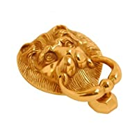 """Dorchester"" Solid Brass Lion Head Door Knocker - 5 inch"