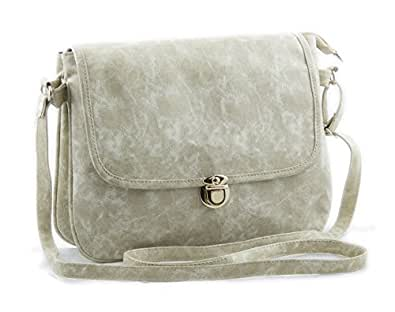 Voaka Women's Pu Leather Designer Sling Bag - White