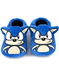 Zapatillas de Caracteres Sonic The Hedgehog Bordado Cara 3D oídos de niño