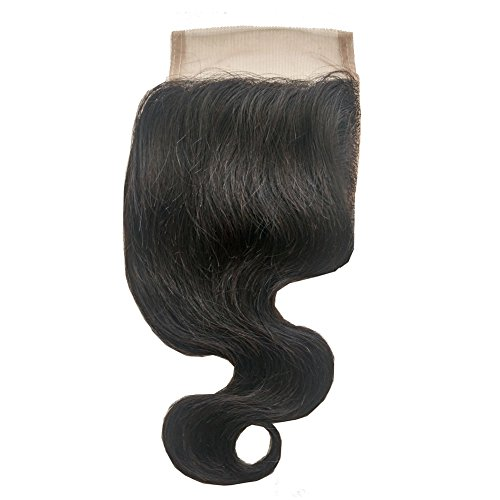 ohlees® 6 A Virgin Brazilian Body Wave 100% cheveux humains sans partie haut Fermeture 4*4 Full Lace en dentelle lace closure 16\\
