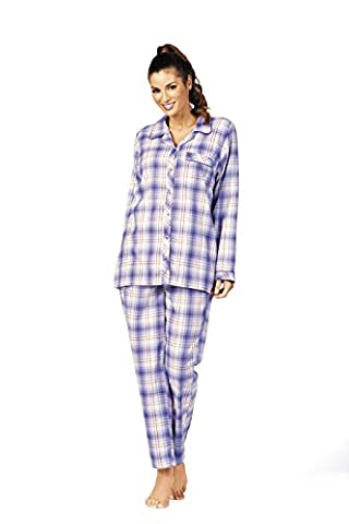 Comtessa Flanell Damen Schlafanzug Farbe: Aubergine Gr. 38