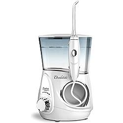 Irrigador bucal profesional Dentalski DS-600 - Recomendado por dentistas para la higiene bucal - Incluye 6 boquillas (también compatible con accesorios de Waterpik y otros irrigadores dentales)