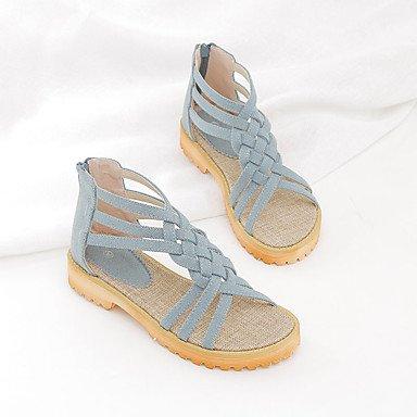 NVXZD Da donna-Sandali-Casual-Con cinghia-Quadrato-PU (Poliuretano)- Blu chiaro