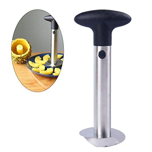 OUNONA Multifunktionale edelstahl 3-in-1 Ananas schäler Cutter schneidemaschine Dicer Obst werkzeug Ananas schneidwerkzeug Core Remover (Schwarz)
