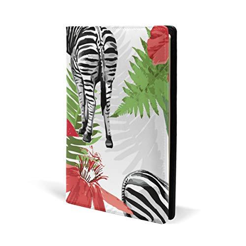Red Zebra Cover (Watercolor Zebra Red Floral Book Cover Leather School Office Notebook Schulheft Schulheft Schulheft Schulheft Paperback Hardcove A5 14,8 x 22,6 cm für Mädchen Jungen)