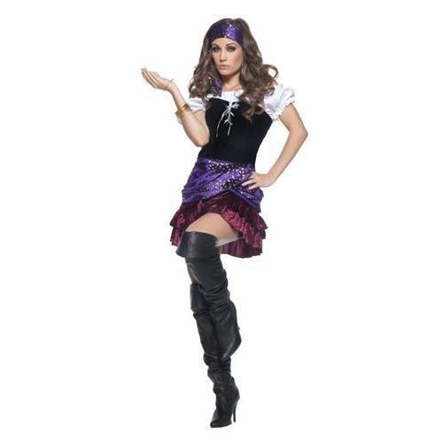 Miss Fortune Underwraps Gypsy-Kostüm für Erwachsene Gr. Small, Mehrfarbig - - Miss Fortune Kostüm