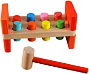 JOKFEICE Wooden Hammer Toys Punch and Drop Instruments Pounding Toysfor One Year Old Presents, Toddler Boy Gif
