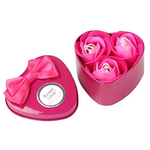 Fliyeong Natürliche Phantasie Blume Körper Seife, duftende Rosen Blütenblatt Bad Körper Seife für Hochzeit u0026 Party Geschenk B Pink hohe Qualität -