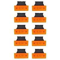 10 piezas 4 LEDs Naranja 24 V Side Outline Marcador luces con soportes Chasis de remolque camión camión caravana