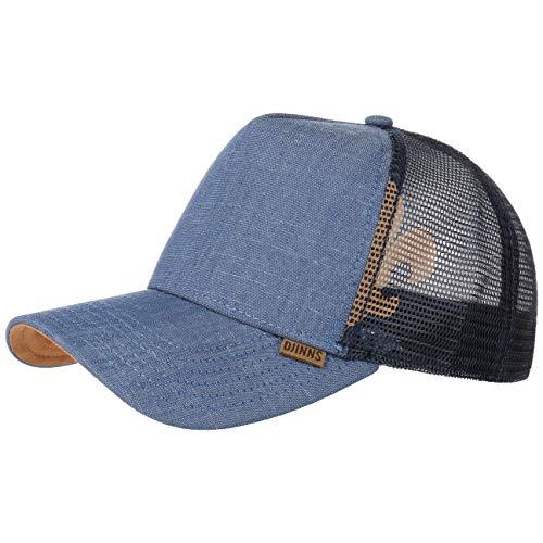 Linen Snapback Mesh Cap Djinns casquette trucker baseball cap (taille unique - bleu fonce)