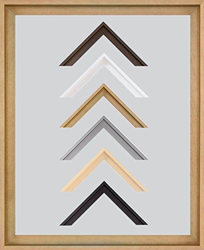Lyon Schattenfugen - Leerrahmen MDF 70 x 100 cm ohne Verglasung ideal für Canvas Leinwand Bilder 100 x 70 cm Farbe wählbar hier: Buche ohne Verglasung