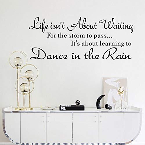 Yzybzwelt Populäres Zitat Das Leben Ist Nicht Über Das Warten Tanz Im Regen Zeichen Schreiben Vinyl Pvc Aufkleber Wandaufkleber Wandbild Home Decor