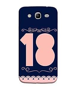 PrintVisa Double of 9 is 18 3D Hard Polycarbonate Designer Back Case Cover for Samsung Galaxy Mega 5.8 I9150 :: Samsung Galaxy Mega Duos 5.8 I9152