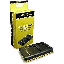 PATONA Cargador de batería doble EN-EL19 | ENEL19 con Cable Micro-USB para Nikon CoolPix S2500 | S3100 | S4100