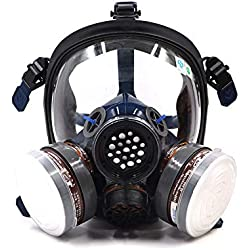 St-s100–3Full Face Peinture respiratoire gaz Chimique à la poussière Masque de pesticides , Double Filtre à air, Protection des Yeux, Protection respiratoire , Bio Vapor respiratoire