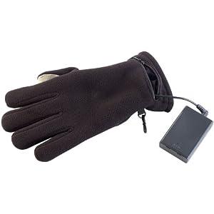 PEARL urban Heizhandschuhe: Beheizbare Handschuhe mit kapazitiven Fingerkuppen (Wärmehandschuhe) – Schwarz – M / 7,5