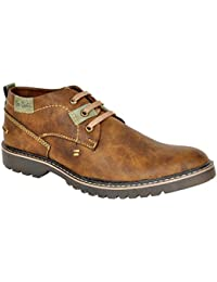 Lee Grain Pure Leather Brown Casual Shoe