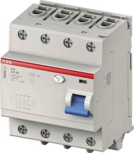 ABB Fehlerstromschutzschalter F404A40/0.03 40A,0.03mA,400VAC,50Hz,4P,steckbar 2CCF544110E0400 7612270104260