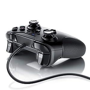 CSL – Gamepad für Playstation 3 – PS3 – Controller kabelgebunden – hochwertige Analogsticks – geringe Deadzone – hohe Reaktionsgeschwindigkeit – Dual Vibration Feedback – Gummierung für sicheren Grip