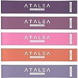 Atalea Fitnessbänder - Fitnessband mit Trainingsanleitung und Fitness Band Tragetasche - 5er Set...