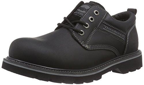 Dockers 23DA005 - Scarpe stringate in pelle da uomo, nero, 42