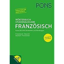 PONS Wörterbuch Studienausgabe: Französisch - Deutsch / Deutsch - Französisch