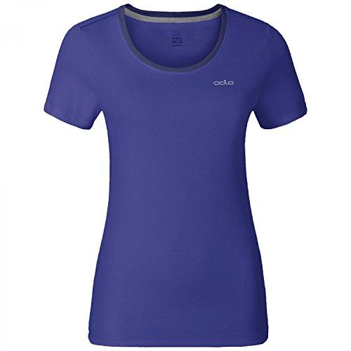 Odlo Damen T-Shirt Short Sleeve Crew Neck Maren Blu - Spectrum Blue