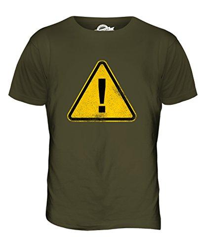 CandyMix Allgemeines Warnzeichen Herren T Shirt Khaki Grün