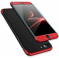 Funda iphone SE/5S/5, DYGG Carcasa Case Cover Caso para iphone SE/5S/5, Ultra-Delgado, Anti-Rasguño, Anti-Golpes, Anti-Estático, Resistente Huellas Dactilares, Totalmente Protectora Caso de Plástico Duro, Ligera, Ajuste Perfecto + Protector de Pantalla-Negro Rojo