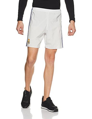 adidas Herren Real Madrid Heim Shorts, Crystal White/Raw Purple, XL