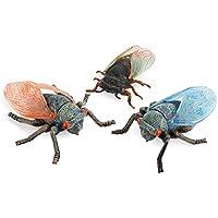 AKlamater Simulación Sólido Estático Modelo Animal Ornamentos Hogar Insectos Realistas Cicada Pensamiento de Expansión Intelectual