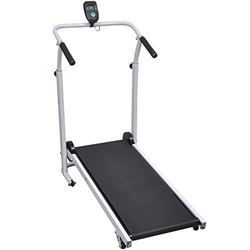 Tidyard Mini-Laufband Faltbar 93 x 36 cm Faltbares Fitnessgerät Sport Tretmühle Treadmill