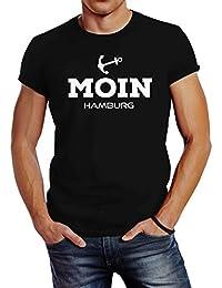 accb252861 Neverless Herren T-Shirt Moin Hamburg Anker Slim Fit