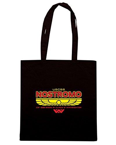 T-Shirtshock - Borsa Shopping TGAM0083 USCSS Nostromo Starfreighter Nero