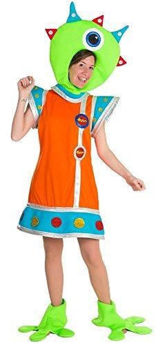 D's Kostüm Nine (Marsmännchen Kostüm für Damen - Lustige Marsmensch Alien Außerirdischer Verkleidung für)