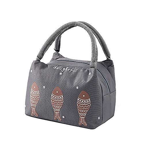 23c0a3dfc558 Dyuansm Lunch Kit,Thermal Insulated Lunch Box Tote Cooler Bag Bento Pouch  Lunch Container,Women's Handbags,Deep Gray