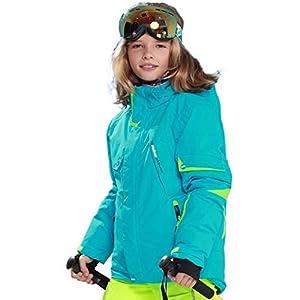 Oyamihin Cooler entworfener Winter-Outdoor-Schnee-Ski-Boy-Outdoor-Sportmantel – Blau 134/140