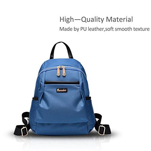 New Girl Schulter-Rucksack-Schule-Beutel Oxford Cloth Wasserdicht Einfache Versatile schwarz Nicole&Doris blau