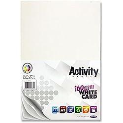 Cartulinas para actividades, A3, 160 g/m² (paquete de 50 hojas), de Premier Stationery