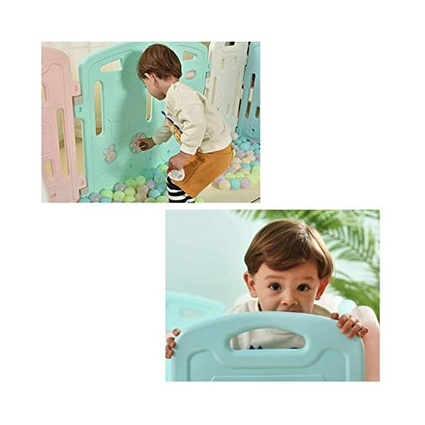 Baby Playpen HUYP Children's Foldable Panel Pet Fence Baby Fence Play Toddler Crawling Mat Fence (Size : 6 small pieces) Baby Playpen  4