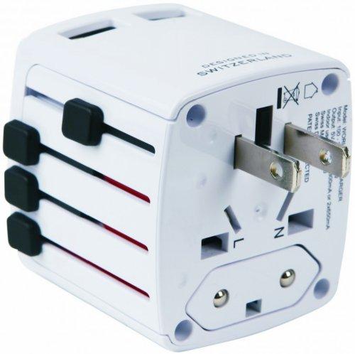 PUERTO USB DUAL CARGADOR (CARGADOR USB EN MAS DE 150 PAISES SE PUEDE UTILIZAR  CARGAR 2 DISPOSITIVOS A LA VEZ)