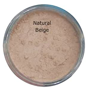 NATURAL BEIGE/FAIR LIGHT 5g Jar Mineral foundation Full Cover Makeup Natural Finish Soft Glow Cover Acne Rosacea Redness BUY 2 GET ONE FREE