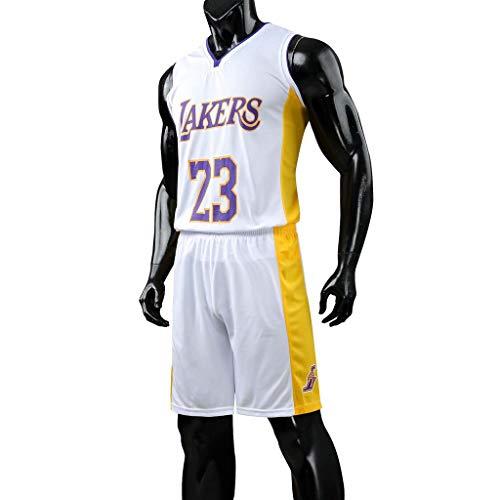 Court Basketball Shorts (Liabb NBA-Junge Michael Jordan # 23 Chicago Bulls Retro-Basketball-Shorts Sommer-Trikots High Court-Basketball-Uniformen)