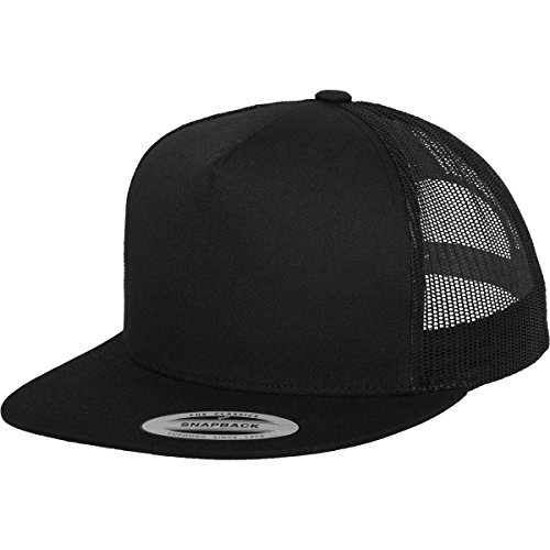 Flexfit Classic Trucker Hat, Black, One Size, 6006 by Flex fit