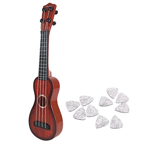 Homyl Kinder 15 Zoll Ukulele Kleine Gitarre Musikinstrument Pädagogisches Spielzeug mit Pleks Zubehör Kinder Spielzeug Banjo