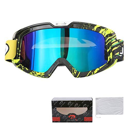 KnBoB Skibrille Entspiegelt Motorradbrillen Für Biker Sport Brille Damen A05-K