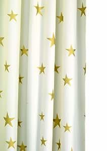 Croydex Af285603Yw Chatoyant étoiles d'or Rideau Douche, Blanc/doré