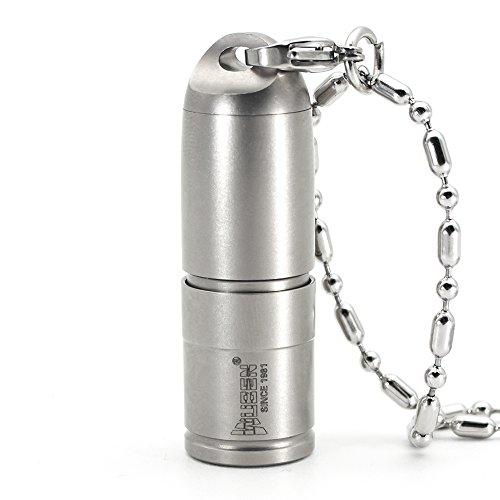Mini Taschenlampe leistungsstarke Lampe Zoomable 130 Lumen echt getestet wasserdicht wiederaufladbar mit USB neue CREE LED Schlüsselbund Flashlight enthalten Batterie Aluminiumlegierung (Titanium alloy G338) (6 Monatige Behandlung)