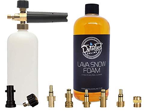DetailedOnline Schneeschaum-Lanze + Plus 1 l Orange Lava Schneeschaum - passend für alle Hochdruckreiniger