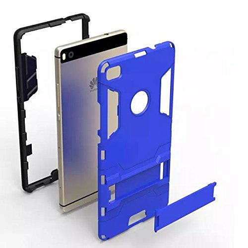 HUAWEI Case Cover HUAWEI P8 Cover, 2 In 1 Neue Armour Tough Style Hybrid Dual Layer Defender PC Hard Back Abdeckung mit Ständer Shockproof Fall Für HUAWEI P8 ( Color : Blue , Size : HUAWEI P8 ) Gold
